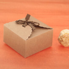 12pcs Handmade Style Kraft Paper Boxes for Candy Cookie Cake Gift Box