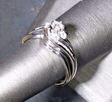 Diamond Wedding Ring 2 pc Set White Gold (14k) Size 8