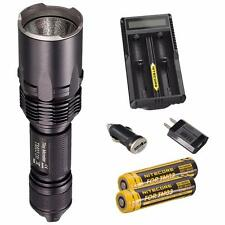 NITECORE TM03 CRI 2600 Lumen Cree XHP70 LED Flashlight + 2x 18650 & UM20 Charger