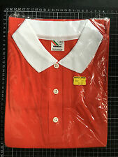 Vintage BONDS RED POLO SHIRT Australian Brand New Old Stock L 105 mod preppie