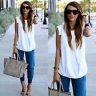 Hot Fashion Sexy Women Ladies Vest Shirt Blouse Casual Loose Tops White T shirt
