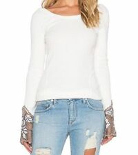 NWT $78 Free People New  Newbie Bali Babe Thermal Top Shirt NWT Ivory L