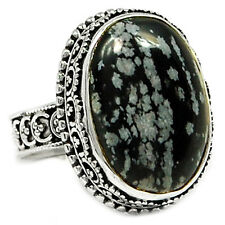 Snowflakes 925 Sterling Silver Ring Jewelry s.8 SNFR126