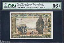 West African States Burkina Faso ND(1959-1964) P-302Ck PMG Gem UNC 66 EPQ 500 FR