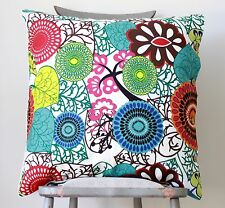 Africa Large Cushion Cover Abstract Blue Green Red Teal Lime Euro Scatter Case