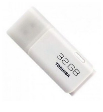 32 GB USB Flash Drive Memory Stick Pen Drive - White - Toshiba TransMemory #ict