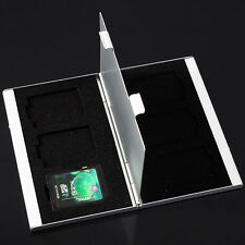 Aluminum 6 Slots Storage Box Protector for SD/SDHC/MMC Memory Card Holder Case