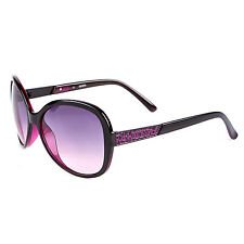 GUESS LADIES Negro & Purple Butterfly Gafas de Sol Cat 3 GU7207 negro-50 Y Estuche Duro
