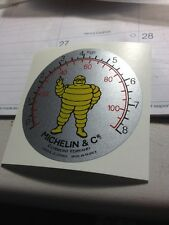 Michelin Air Compressor Guage Face Decal For Restoration