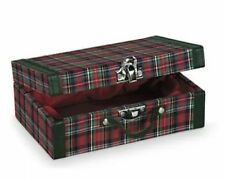American Girl Molly's Plaid Suitcase~BURGUNDY BOX~Pleasant Company-BRAND NEW!!