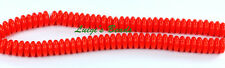 50 Opaque Red Czech Glass Rondelle Spacer Beads 6mm