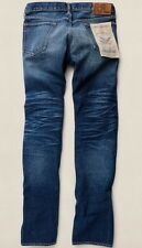 Ralph Lauren RRL SLIM FIT East West Cimosa Jeans Henderson Wash 30/32 RRP £ 240