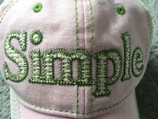 SIMPLE shoe Company Pink Green Stitching Toe CAP HAT SIZE ADJUSTABLE