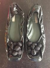 Marc Jacobs Ballet Shoes Elastic Patent Satin Bauble Bobble Beads Size 7 40 10