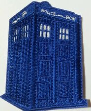 Tardis police box embroidered patch