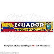 ECUADOR Flag-Coat of Arms, El Mitad Del Mundo, Ecuadorean 180mm Sticker, Decal