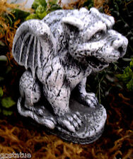 Latex only sitting gargoyle w / wings mold mould plaster concrete