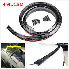1.5M Carbon Fiber Soft Styling Car Rear Roof Trunk Spoiler Wing Lip Trim Sticker
