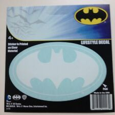 "DC Batman White Bat Logo Emblem Car Window Sticker Decal 5"" Officially Licensed"