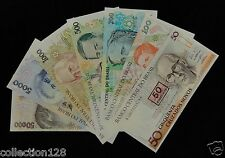 BRAZIL BRASIL Set of 7 Pieces UNC, 50 100 200 500 1000 5000 50000 Cruzeiros