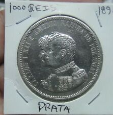 "366# PORTUGAL - 1000 REIS 1898 SILBER KING CARLOS I  KM#539 ""INDIA DISCOVERY"""