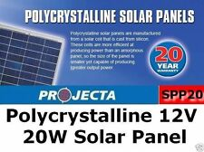 SOLAR PANEL PROJECTA SPP20 POLYCRYSTALLINE 12V 20 W 4WD CARAVAN CAMPING BOAT