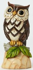Jim Shore Heartwood Creek WOODLAND OWL Stone Resin Figurine Lechuza Birds Owls