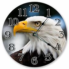 "10.5"" BALD HEAD EAGLE CLOCK - Large 10.5"" Wall Clock - Home Décor Clock - 3055"