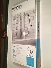 New MOEN Kipton 1-Handle Pull Down Kitchen Faucet Chrome Finish NIB #87910
