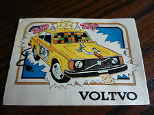 VOLVO 262C 240GL 242DL 244 turbo 1977 1976 1975 1978 old trading car parts card
