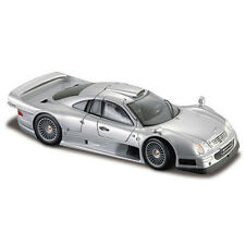 Maisto 1:18 36849 Mercedes Benz CLK GTR Street Version Diecast Model Car Silver