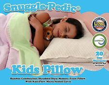 Snuggle-Pedic Kids & Travel Bamboo Ultra-Luxury Shredded Memory Foam Pillow