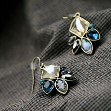 Women's Fashion Vintage Delicate Flower Dangle Pendant Earrings Jewelry