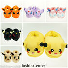 New Pokemon Pikachu Umbreon Warm Cosplay Adult Plush Shoes Slippers 11