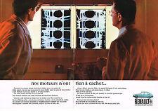 PUBLICITE  1967   RENAULT  les moteurs n'ont rien à cacher  (2 pages)
