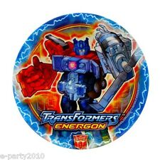 TRANSFORMERS ENERGON SMALL PAPER PLATES (8) ~ Birthday Party Supplies Dessert