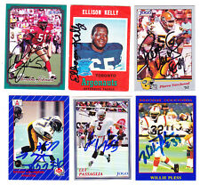 1990 JOGO CFL WILLIE PLESS LIONS  SIGNED CARD CFL HOF'ER