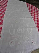LOT DE linge ancien , nappe ,grands napperons, chemin de table...