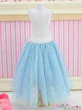 ☆╮Cool Cat╭☆92.【PS-03】Blythe Pullip Long Tulle Ball Skirt (Dot) # Blue