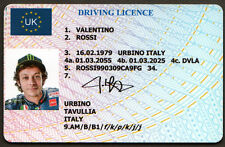 Valentino Rossi Superbikes Quality PVC Novelty Driving Licence Novelty