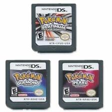 New Nintendo Pokemon Platinum+Diamond+Pearl Version Game Cartridges for 3DS NDSI