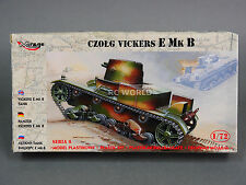 1/72 Mirage Hobby CZOLG VICKERS E MK B  Model Tank Kit #d2