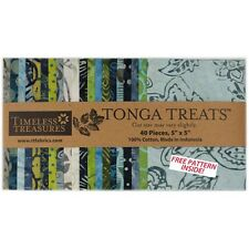 Timeless Treasures Charm Pack Tonga Treats Bluegrass Collection 20 Batik Styles