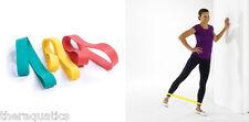Resistance band exercise LOOP Lt/Med/Hvy Exercise Strength Gym Bodybuilding RYG