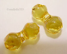 4x SWAROVSKI 5150 Light Topaz 11mm Modular Bead Crystal Spacer
