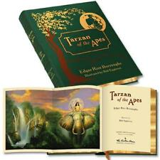 TARZAN OF THE APES Edgar Rice Burroughs SIGNED & ILLUS EGGELTON ~ EASTON LEATHER