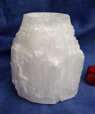 Selenite Skyscraper Tea light Candle Holder Cleansing, Purifying , crystal