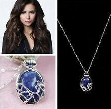 Fashion Blue Stone Pendant Necklace The Vampire Diaries Katherine Anti-sunlight