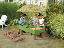 Sand Box Table Cover Playful Activity Outdoor Toys Step2 Naturally Kids Umbrella