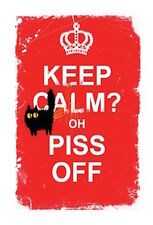 MAD OLD CAT LADY GREETING CARD: KEEP CALM? - NEW IN CELLO